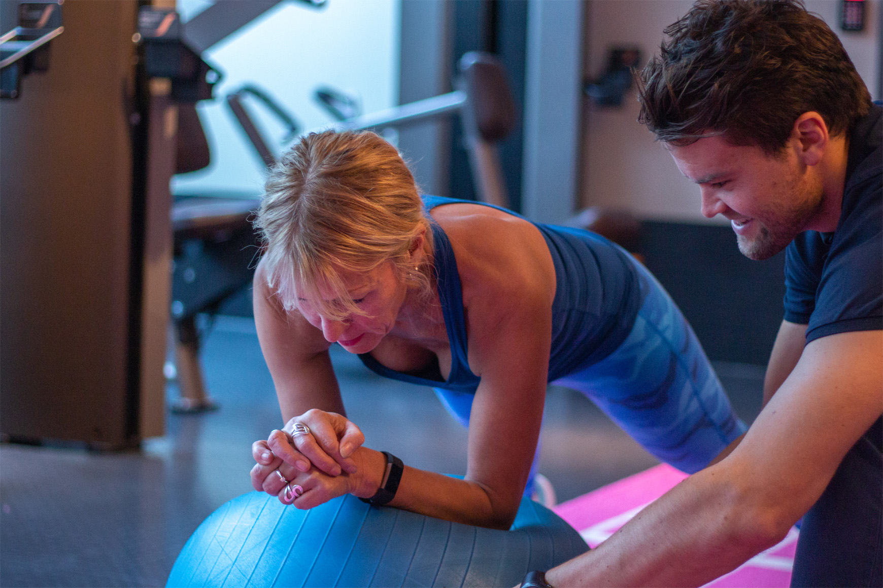 Personlig trener Marius Krathe sammen med klient